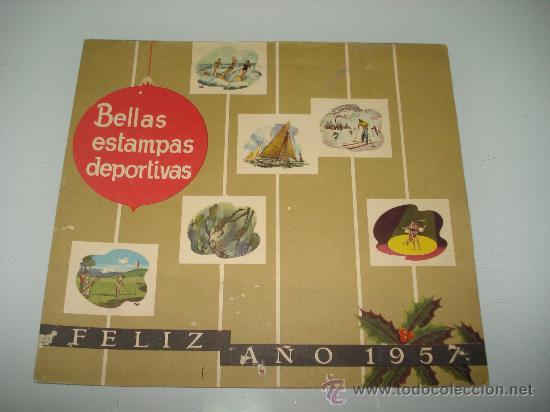 Coleccionismo deportivo: Antiguo Calendario de Pared Bellas Estampas Deportivas de FIRESTONE del Año 1957. - Foto 4 - 34018493