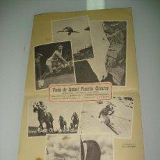 Coleccionismo deportivo: ANTIGUO CALENDARIO DE PARED BELLAS ESTAMPAS DEPORTIVAS DE FIRESTONE DEL AÑO 1957.. Lote 34018493