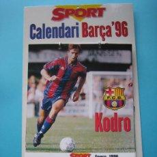 Coleccionismo deportivo: FUTBOL CLUB BARCELONA CALENDARIO BARCA 96 EDITADO POR SPORT COMPLETO CON SUS 12 MESES DE 1996. Lote 34338775