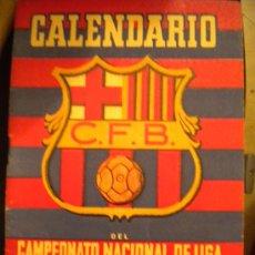 Coleccionismo deportivo: CALENDARIO DEL CAMPEONATO DE LIGA 1952-1953 CLUB DE FUTBOL BARCELONA. Lote 34442562