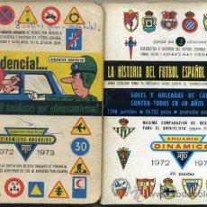 Coleccionismo deportivo: CALENDARIO DINÁMICO ANUARIO 1972 1973 - DOS LIBRITOS. Lote 35341478