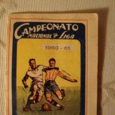 Coleccionismo deportivo: ANTIGUO CALENDARIO ALMANAQUE CAMPEONATO NACIONAL DE LIGA 1960-1961 PRIMERA Y SEGUNDA DIVISION. Lote 35409976