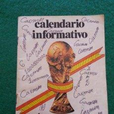 CALENDARIO INFORMATIVO MUNDIAL 82
