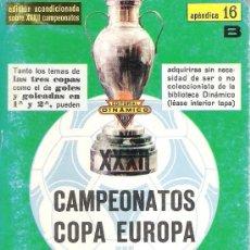Coleccionismo deportivo: XXXII CAMPEONATOS COPA DE EUROPA DE CAMPEONES DE LIGA - APENDICE 16B / DINÁMICO. Lote 36797455