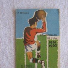 Coleccionismo deportivo: CAMPEONATO NACIONAL DE FÚTBOL. LIGA 1961-62. PUBLICIDAD DE CEREGUMIL. Lote 36854715