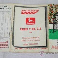 Coleccionismo deportivo: CALENDARIO DE LOS PARTIDOS DEL CAMPEONATO MUNDIAL DE FUTBOL MEXICO 86. Lote 37015212