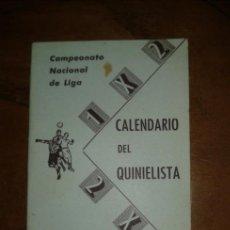 Coleccionismo deportivo: CALENDARIO DEL QUINIELISTA 1966 - 67. Lote 37062445
