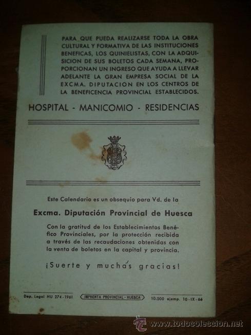 Coleccionismo deportivo: CALENDARIO DEL QUINIELISTA 1966 - 67 - Foto 2 - 37062445
