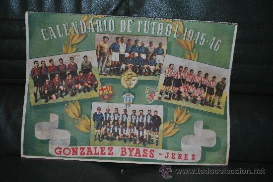 CALENDARIO DE FUTBOL 1945-1946 (Coleccionismo Deportivo - Documentos de Deportes - Calendarios)