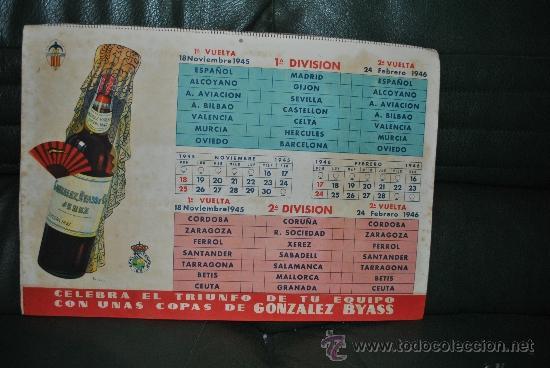 Coleccionismo deportivo: CALENDARIO DE FUTBOL 1945-1946 - Foto 2 - 37494904