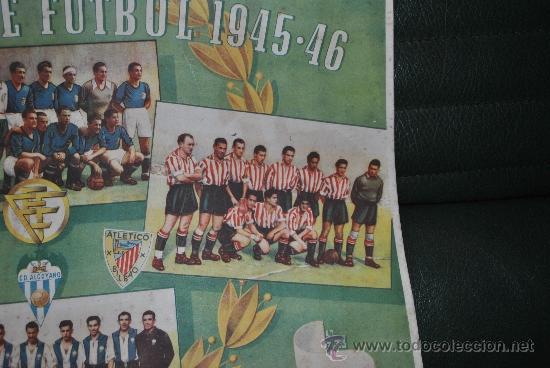 Coleccionismo deportivo: CALENDARIO DE FUTBOL 1945-1946 - Foto 3 - 37494904