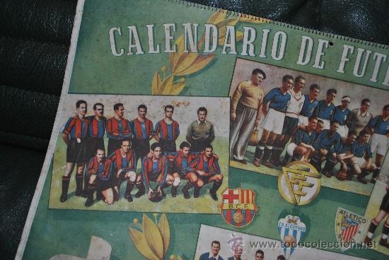 Coleccionismo deportivo: CALENDARIO DE FUTBOL 1945-1946 - Foto 4 - 37494904