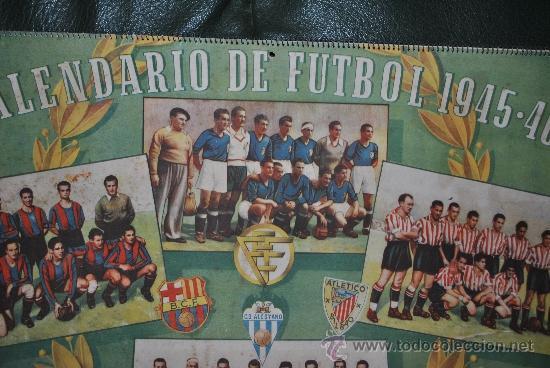 Coleccionismo deportivo: CALENDARIO DE FUTBOL 1945-1946 - Foto 5 - 37494904