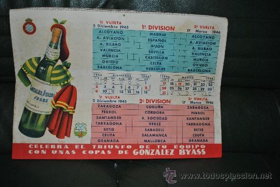 Coleccionismo deportivo: CALENDARIO DE FUTBOL 1945-1946 - Foto 8 - 37494904