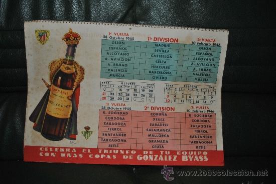 Coleccionismo deportivo: CALENDARIO DE FUTBOL 1945-1946 - Foto 9 - 37494904