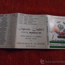 Coleccionismo deportivo: CALENDARIO ESPAÑA MUNDIAL 82 FUTBOL . Lote 37538697