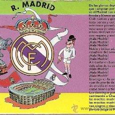Coleccionismo deportivo: MUY INTERESANTE ALMANAQUE DE BOLSILLO - HIMNO DEL R.MADRID - PUBLICIDAD EN REVERSO (VISITAR). Lote 37567474