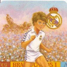 Coleccionismo deportivo: MUY INTERESANTE ALMANAQUE DE BOLSILLO - JUGADOR - R.MADRID - PUBLICIDAD EN REVERSO (VISITAR). Lote 37567548