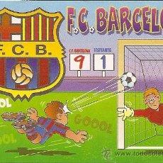 Coleccionismo deportivo: MUY INTERESANTE ALMANAQUE DE BOLSILLO - F.C.BARCELONA 9-1 GOOOL - PUBLICIDAD EN REVERSO (VISITAR). Lote 37567738