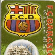 Coleccionismo deportivo: MUY INTERESANTE ALMANAQUE - F.C.BARCELONA AÑO DE LA FUNDACIÓN 1899 - PUBLICIDAD EN REVERSO (VISITAR). Lote 37567774