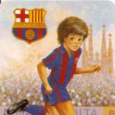 Coleccionismo deportivo: MUY INTERESANTE ALMANAQUE DE BOLSILLO - F.C.BARCELONA JUGADOR - PUBLICIDAD EN REVERSO (VISITAR). Lote 37567860