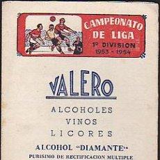 Coleccionismo deportivo: CALENDARIO PARA CAMPEONATO DE LIGA 1953-1954 . Lote 37767891