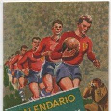 Coleccionismo deportivo: CALENDARIO FUTBOL,PUBLICIDAD CERVEZA SAN MIGUEL ,LIGA 1960-61 . Lote 37886660