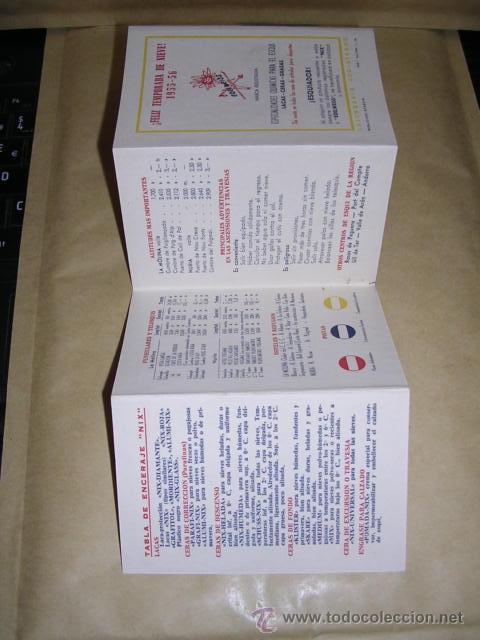 Coleccionismo deportivo: CALENDARIO - GUIA DEL ESQUIADOR TEMP. 1955-56 -LA MOLINA - NURIA , Y CONCURSOS FEDERACION CATALANA - Foto 3 - 37899088