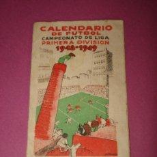 Coleccionismo deportivo: CALENDARIO DE FUTBOL CAMPEONATO DE LIGA 1ª DIVISIÓN DE 1948-1949 PUBLICIDAD DE MARTINI & ROSSI. Lote 38344828