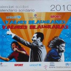 Coleccionismo deportivo: CALENDARIO DE PARED DEL BARÇA. AÑO 2010. Lote 38356923