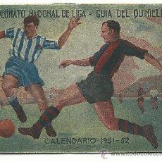 Coleccionismo deportivo: CALENDARIO CAMPEONATO NACIONAL DE LIGA 1951-52. Lote 38634906