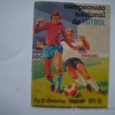 Coleccionismo deportivo: CALENDARIO CAMPEONATO NACIONAL DE FUTBOL,TEMPORADA 1956-76.PEGAMENTO IMEDIO.. Lote 38925259