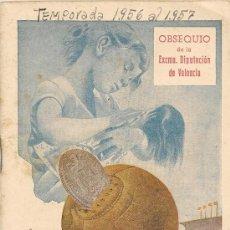 Coleccionismo deportivo: CALENDARIO LIGA 1956 -1957 - ORIGINAL. Lote 39150029