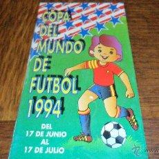 Coleccionismo deportivo: CALENDARIO COPA DEL MUNDO DE FUTBOL 1994. Lote 39405616