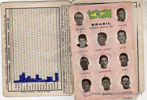 Coleccionismo deportivo: CALENDARIO DINÁMICO FÚTBOL, TEMPORADA 1963-1964, CAMPEONATO DEL MUNDO CHILE 1962 - Foto 2 - 39470688