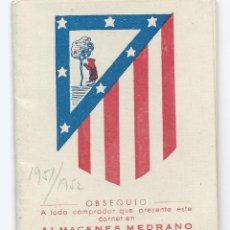Coleccionismo deportivo: 5205- CALENDARIO LIGA 1951/52. Lote 39722145