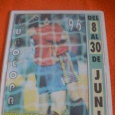 Coleccionismo deportivo: CALENDARIO DE FUTBOL DE LA EUROCOPA 96. PUBLICIDAD DE AGUILAR DE CAMPOO.. Lote 40346937