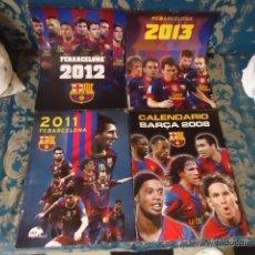 Coleccionismo deportivo: 4 CALENDARIOS FUTBOL CLUB BARCELONA 2008 - 2010 - 2012 Y 2013 . Lote 40541162