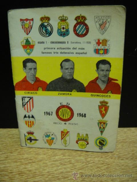 CALENDARIO DINAMICO TEMPORADA 1967 - 1968 - ORIGINAL (Coleccionismo Deportivo - Documentos de Deportes - Calendarios)