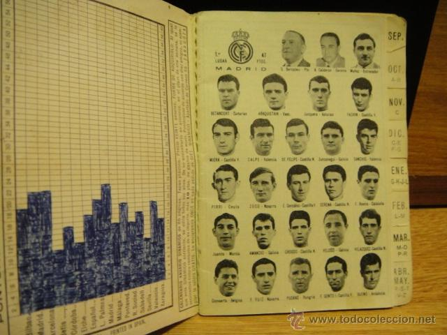 Coleccionismo deportivo: calendario dinamico temporada 1967 - 1968 - original - Foto 2 - 41242159