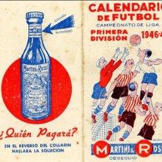 Coleccionismo deportivo: CALENDARIO DE FUTBOL. 1946-1947 CAMPEONATO DE LIGA PRIMERA DIVISION. Lote 41290814