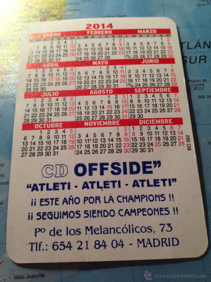 Coleccionismo deportivo: CALENDARIO 2014 ATLETICO MADRID AT MADRID CAMPEON EUROPA LEAGUE Y SUPERCOPA DE EUROPA - Foto 2 - 41392504