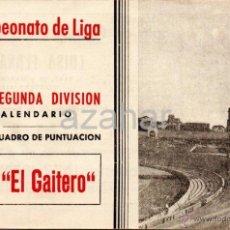 Coleccionismo deportivo: CALENDARIO FUTBOL LIGA 2ºDIVISION, AÑO 1945-46. FOTOS C. FERROL Y DEPORTIVO CORUÑA,. Lote 41580995