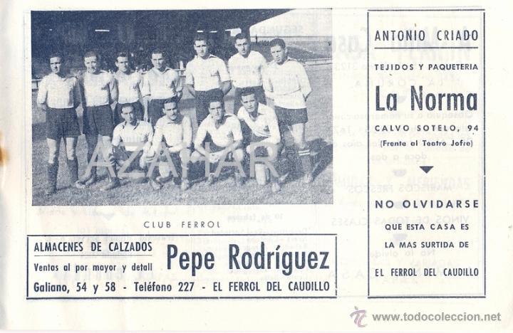 Coleccionismo deportivo: CALENDARIO FUTBOL LIGA 2ºDIVISION, AÑO 1945-46. FOTOS C. FERROL Y DEPORTIVO CORUÑA, - Foto 4 - 41580995