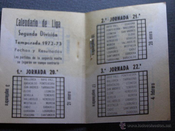 Coleccionismo deportivo: CALENDARIO DINÁMICO DE LIGA 1972-73 - Cigarros Solisombra - Goya - Foto 4 - 41692468