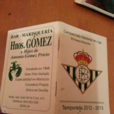 Coleccionismo deportivo: FUTBOL CAMPEONATO DE LIGA PRIMERA DIVISION TEMPORADA 2012 2013 CALENDARIO DE JORNADAS. Lote 41734683