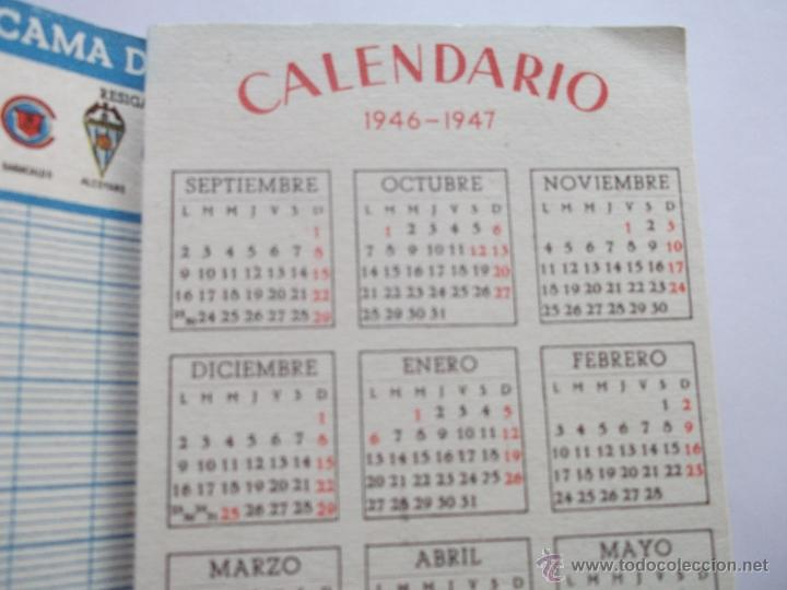 Calendario Liga 123.Calendario Futbol Liga 2ª Division Ano 1946 Sold Through