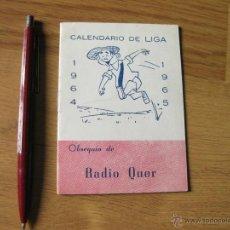 Coleccionismo deportivo: FOLLETO CALENDARIO DE FUTBOL DE LA LIGA DE 1964 - OBSEQUIO DE AUTO QUER - RAYO VALLECANO. Lote 42675523