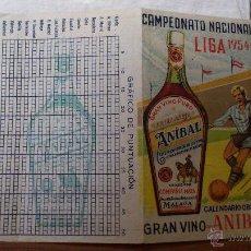 Coleccionismo deportivo: CALENDARIO CAMPEONATO NACIONAL LIGA FUTBOL - 1ª DIVISIÓN - 1954-1955 - ORIGINAL - EXCELENTE. Lote 42802461