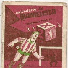 Coleccionismo deportivo: CALENDARIO DEL QUINIELISTA. 1966-67. Lote 43018600